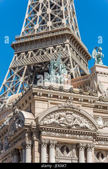 Exterior detail of Paris Las Vegas Hotel and Casino - Stock Image