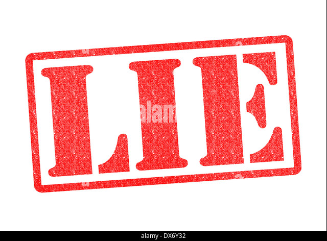 LIE Rubber Stamp over a white background. - Stock Image