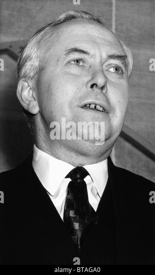 Harold Wilson. The Right Honourable James Harold Wilson - Baron Wilson of Rievauix, KG, OBE, FRS, PC. Prime Minister - Stock Image