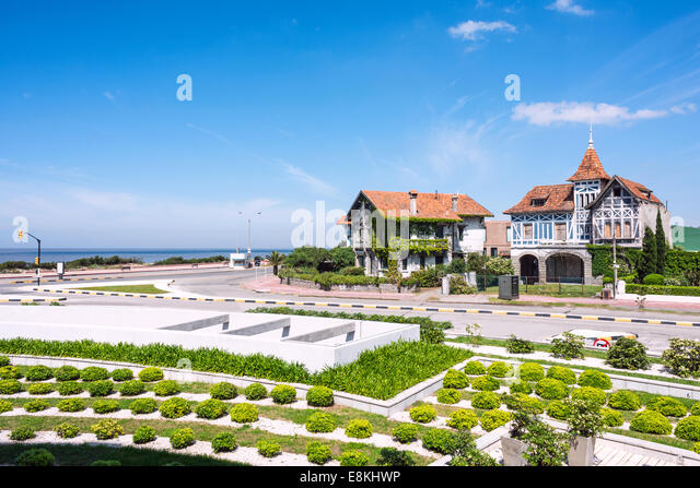 Coastal avenue of Montevideo, Uruguay - Stock Image