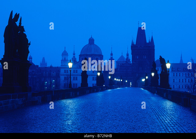 Charles Bridge and city skyline,Prague,czech republic,europe - Stock-Bilder