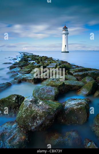 New Brighton Lighthouse Cheshire UK - Stock Image