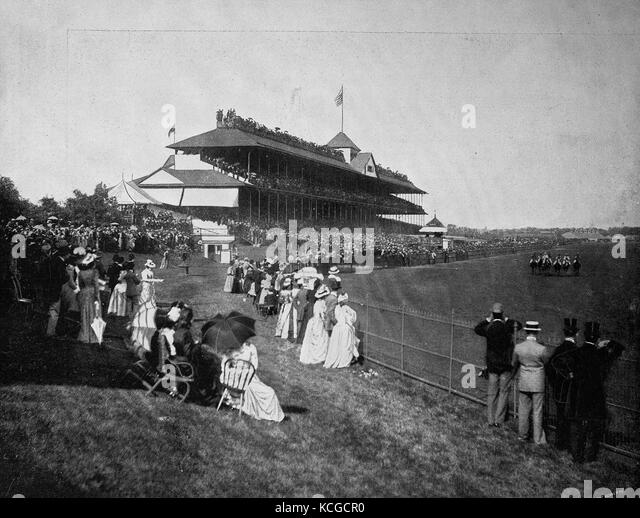 United States of America, Horse Racing, Derby at Washington Park in Chicago, State of Illinois, digital improved - Stock Image