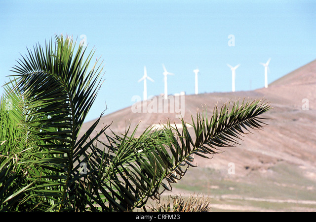 Lanzarote, Spain, Canary Islands on natural resources - Stock Image