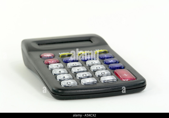 Pocket calculator - Stock Image