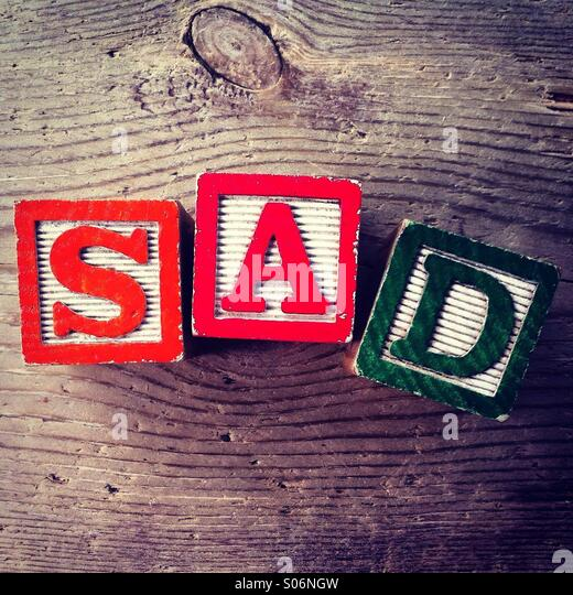 It's a photo of woodblocks toys will alphabet letter on them which are combines together to create the word - Stock Image