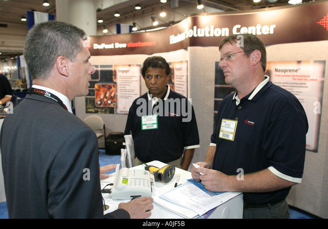 Cleveland Ohio Convention Center Wire Expo trade business commerce - Stock Image