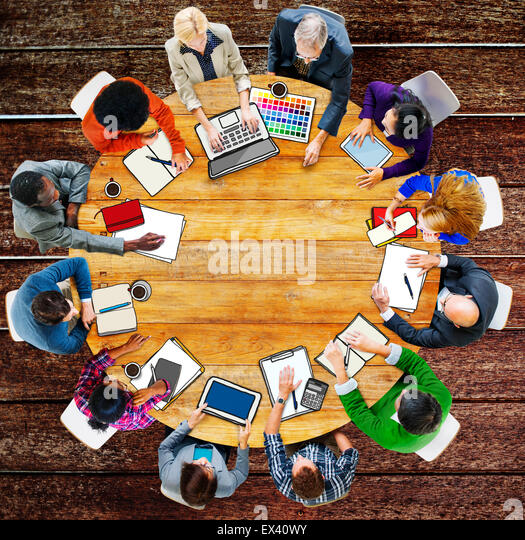 Group of People Business Meeting Brainstorming Concept - Stock Image