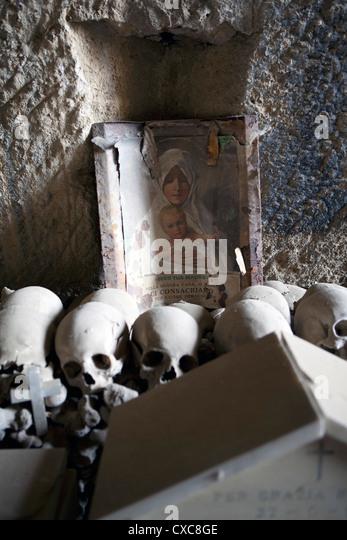 The Fontanelle Cemetery in the Sanita Quarter, Naples, Campania, Italy, Europe - Stock Image
