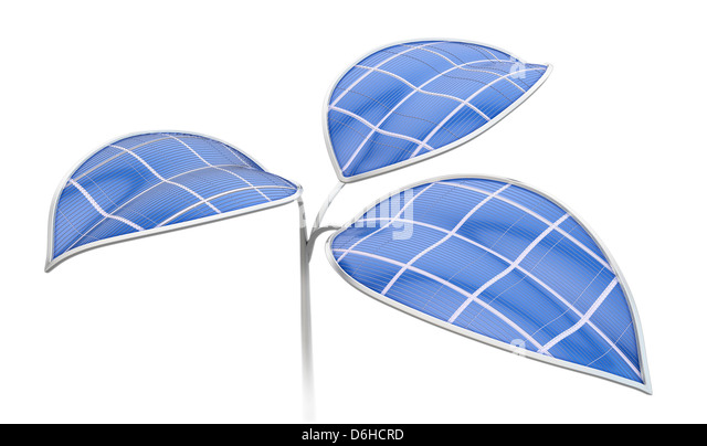 Green energy, conceptual artwork - Stock Image