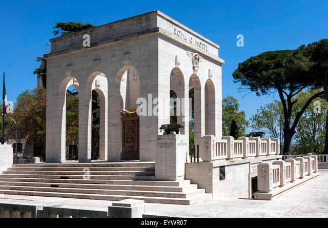 Monument to Italian Patriots who died during the Independence Wars, Janiculum area, Trastevere, Rome, Lazio, Italy - Stock Image
