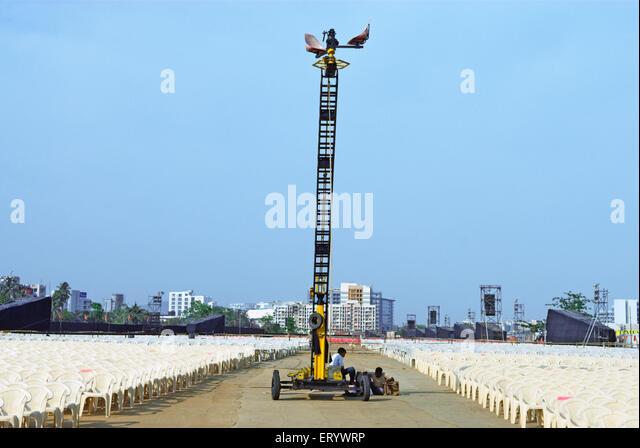 Moving camera crane in entertainment show at bandra kurla complex ; Bombay ; Mumbai ; Maharashtra ; India - Stock Image