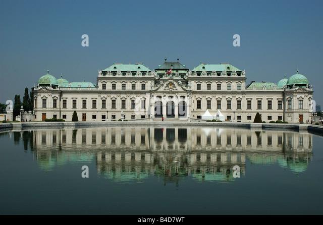 Belvedere Palace, Prinz Eugen Strasse, 27 Vienna, Austria, Europe - Stock Image