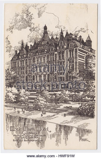 Hyde Park Hotel by Ernest Coffin, London, United Kingdom - Stock Image