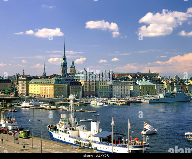 S - STOCKHOLM: Old Town from Katrinavaegn - Stock Image