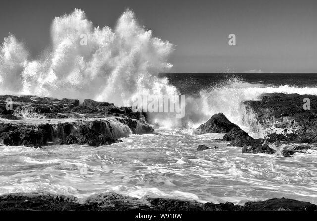 Breaking wave. Hawaii, The Big Island. - Stock-Bilder