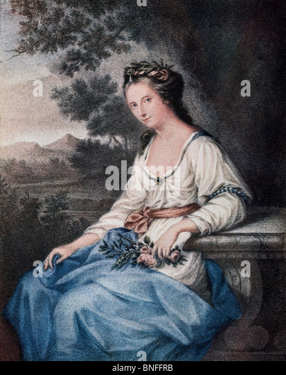 Anne Seymour Damer, née Conway, 1748 to 1828, London. English sculptor. - Stock Image