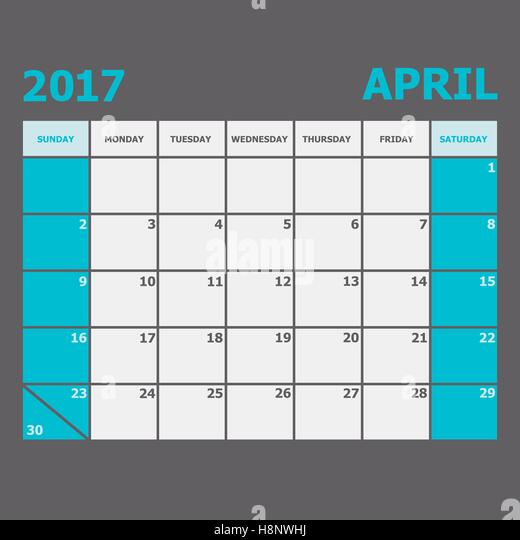 Calendar April Vector : April vector vectors stock photos