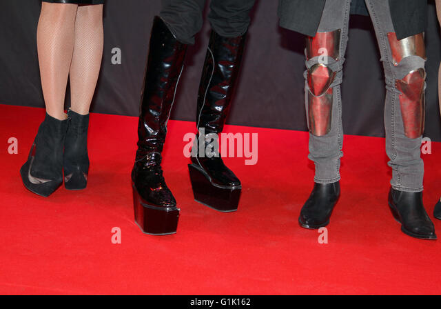 Shoe fashion on red carpet - Stock Image