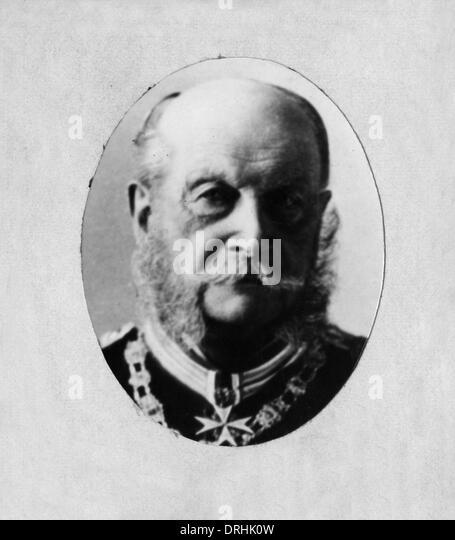 Kaiser Wilhelm I, German Emperor, in uniform in old age - Stock-Bilder