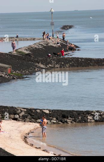 Canvey Island Thorney Bay Beach Southend On Sea Essex