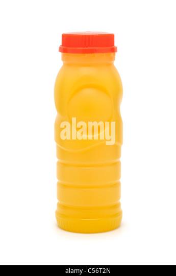 Bottle of Orange Juice - Stock Image