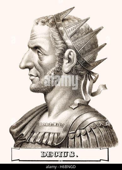 Trajan Decius, c. 201-251, Roman Emperor - Stock-Bilder