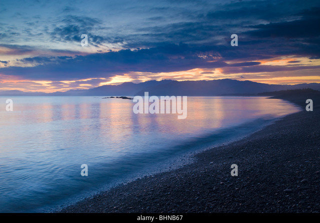 South Bay, Kaikoura, South Island, New Zealand - Stock Image