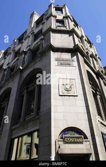 Zimbabwe House, The Zimbabwean Embassy, The Strand, London, England, UK - Stock Image