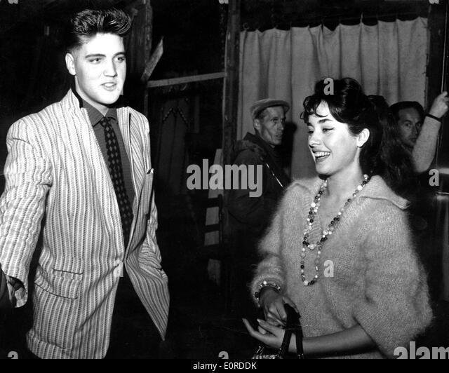 Elvis Presley with actress Vera Tschechowa - Stock Image