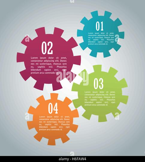Steps options and infographic design - Stock Image