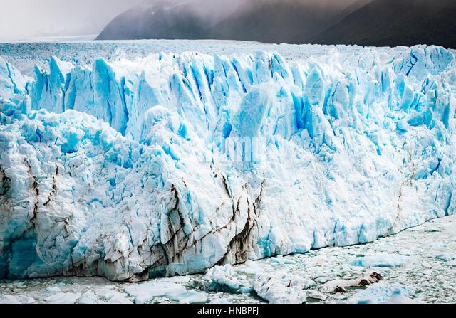 View of the Perito Moreno Glacier in Patagonia, Argentina, South America - Stock Image