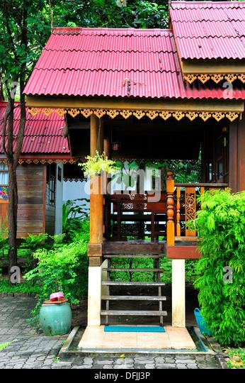 Tropical Thai Beach Resorts Architecture Designs - Stock-Bilder