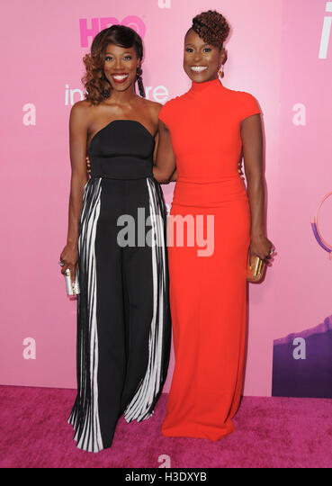 Los Angeles, CA, USA. 6th Oct, 2016. 06 October 2016 - Los Angeles, California. Yvonne Orji, Issa Rae. Premiere - Stock-Bilder