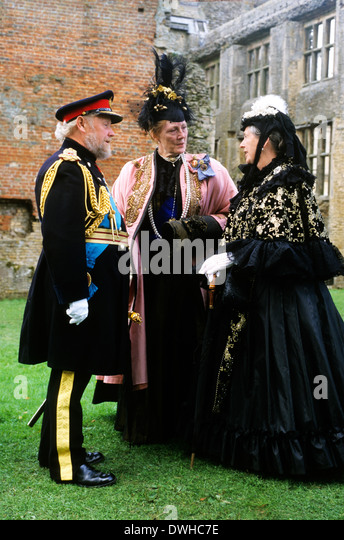 Late Victorian English Gentry, 1880, historical re-enactment England UK costume fashion costumes fashions 19th century - Stock Image