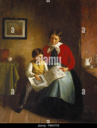 Platt Powell Ryder - The Illustrated Newspaper - Brooklyn Museum - Stock Image