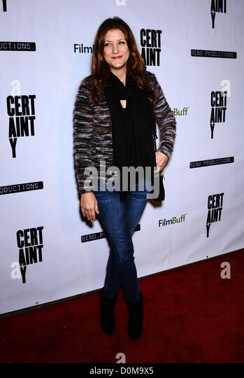 Nov. 26, 2012 - Beverly Hills, California, U.S. - Kate Walsh arrives for the premiere of the film 'Certainty' - Stock Image