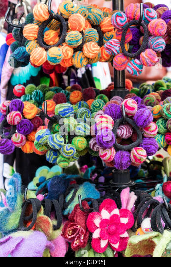 KORNELIMUENSTER, GERMANY, 18th June, 2017 - Hairband for sale on the historic fair of Kornelimuenster. - Stock Image