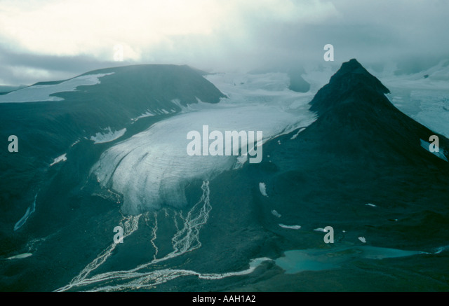 Storglacier (Great Glacier), Kebnekaise, Lappland, Norrbottens Län, arctic Sweden. - Stock Image