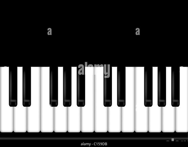 Piano keyboard drawing