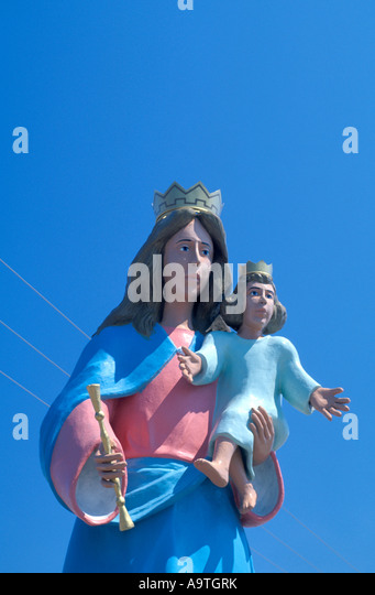 Isla Margarita island Virgin de Valle virgin of the valley landmark statue venezuela tourist attraction  nobody - Stock Image