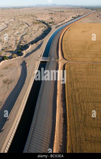 Aerial border patrol on the U.S./Mexico border. - Stock Image