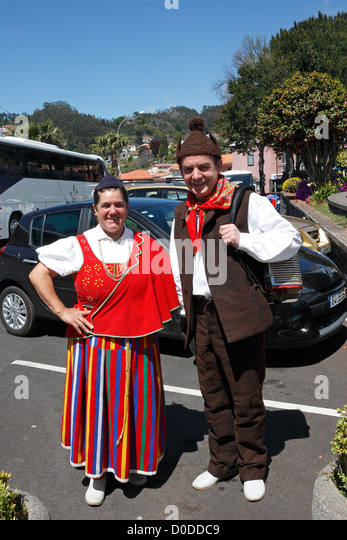 Folk dancers from Grupo Folclorico da Casa do Povo da Camacha in National costume Camacha  Madeira - Stock Image