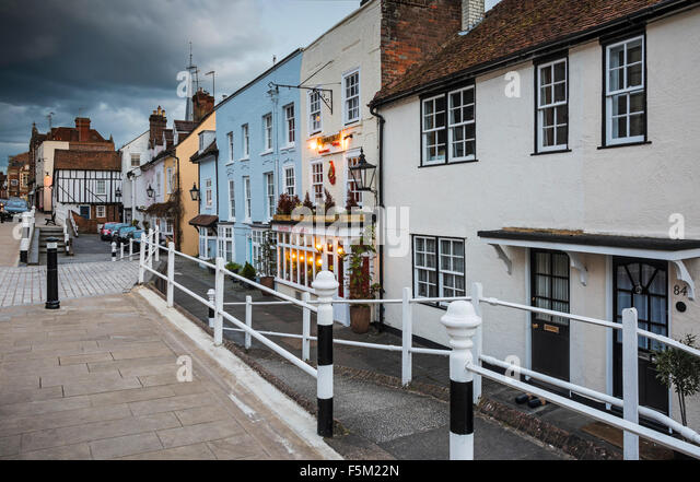 Old Hemel High Street - Stock Image
