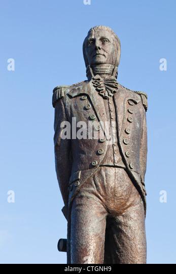Bantry, West Cork, Ireland. Statue of Theobald Wolfe Tone, 1763 - 1798, Irish revolutionary..... - Stock Image