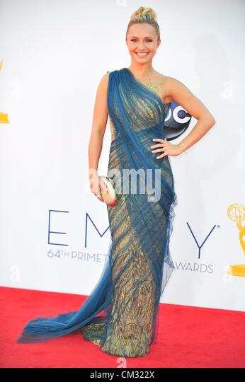 Hayden Panettiere arrivals64th Primetime Emmy Awards - ARRIVALS Nokia Theatre L.A LIVE Los Angeles CA September - Stock-Bilder