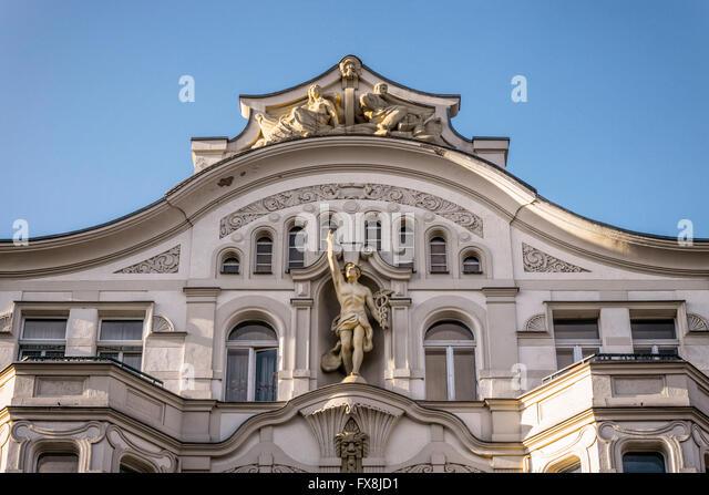 Art Deco Facade,1903 , Luisenbad, Badstrasse, Wedding, Berlin - Stock Image
