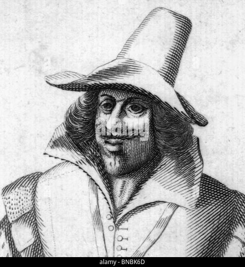 GUY (GUIDO) FAWKES  (1570-1606)  member of the Gunpowder Plot conspirators - Stock Image