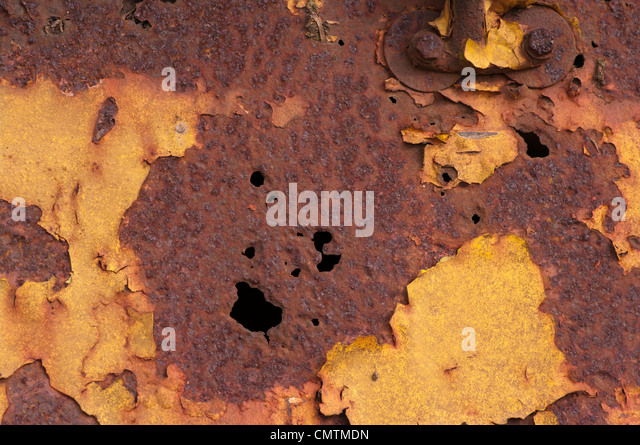 Rusty Rusted Corroded Metal corrosion rust - Stock Image
