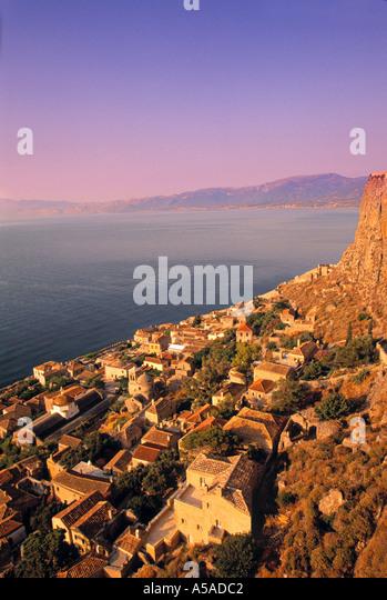 Monemvasia, Lakonia, Peloponnese, Greece - Stock Image